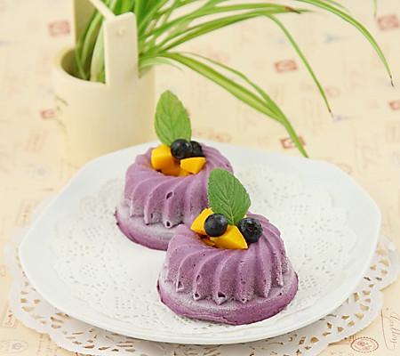 蓝莓芝士蛋糕#豆果6岁生日快乐#的做法
