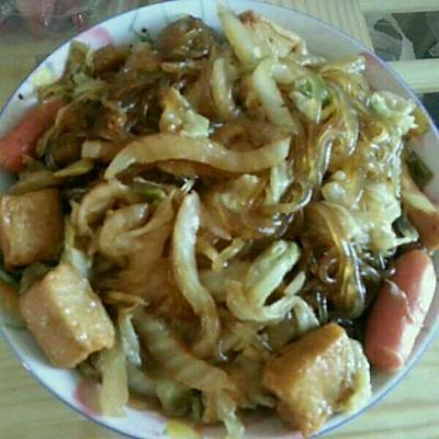 大白菜炒粉条(白菜这样炒才好吃)