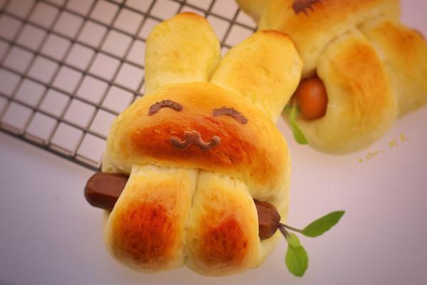 萌兔肠小面包的做法