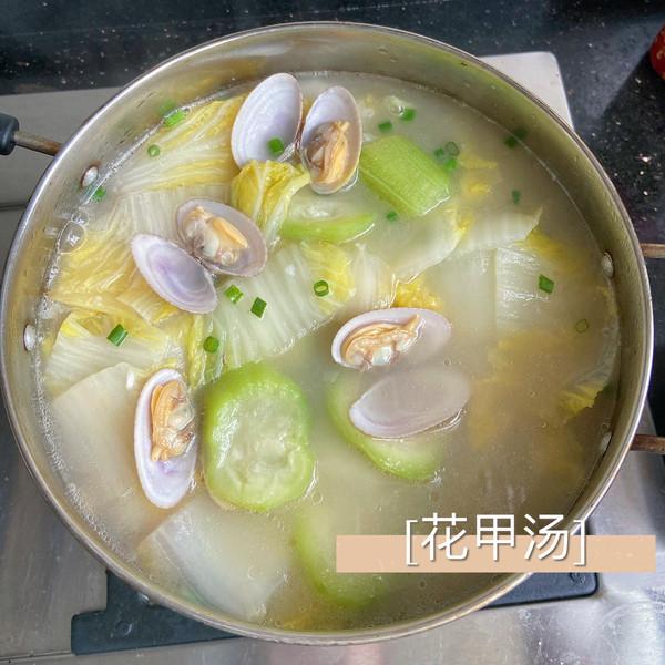 丝瓜白菜花甲汤的做法
