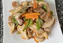 杏鲍菇炒青椒肉片的做法