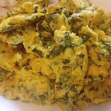 荠菜炒鸡蛋