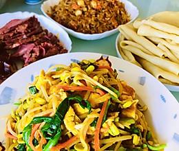 立春套餐—春饼&炒合菜&酱肘子酱牛肉的做法