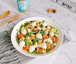 #四季宝蓝小罐#鸡胸肉鲜蔬沙拉的做法