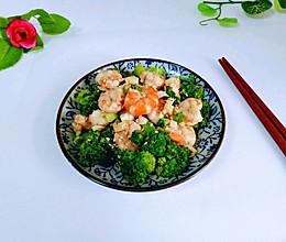 虾仁炒西蓝花的做法