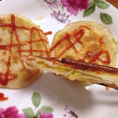 【饺子皮香蕉饼】