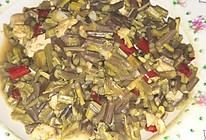 酸蕨菜炒肉的做法