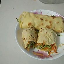 蔬菜鸡蛋卷饼
