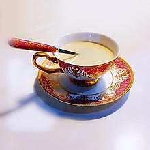 茉莉花香奶茶