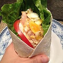 手工鲟鱼鸡蛋蔬菜手卷