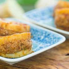 酱汁杏鲍菇肉盒