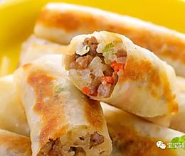 五彩大米卷 宝宝辅食食谱的做法