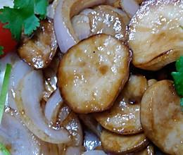 洋葱干煸杏鲍菇的做法