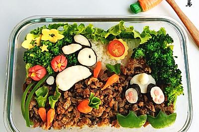 儿童餐—小兔子拔萝卜—营养便当
