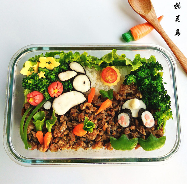 儿童餐—小兔子拔萝卜—营养便当的做法