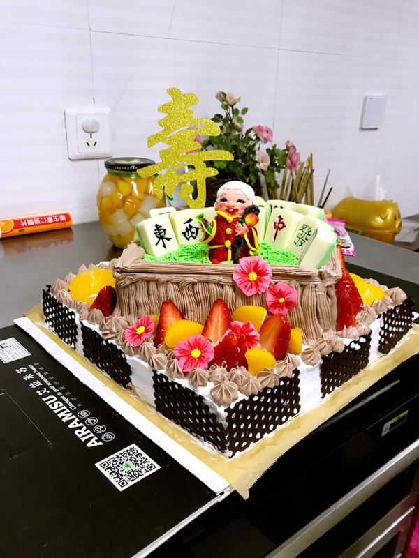 巧克力麻将水果蛋糕——附山寨翻糖慕斯巧克力炉作法的做法