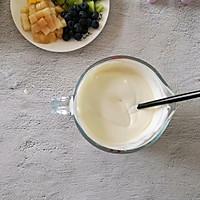 不打蛋没冰渣的酸奶水果冰激淋的做法图解6