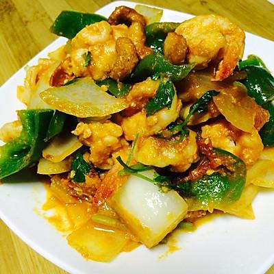 泰国茶香咖喱虾球