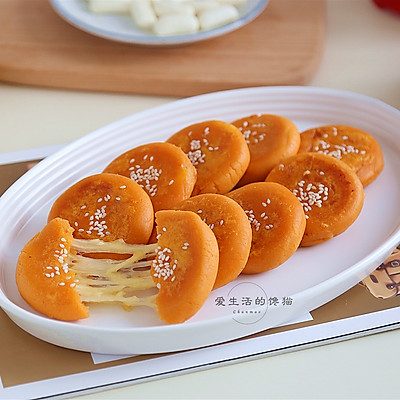 红薯榴莲芝士饼