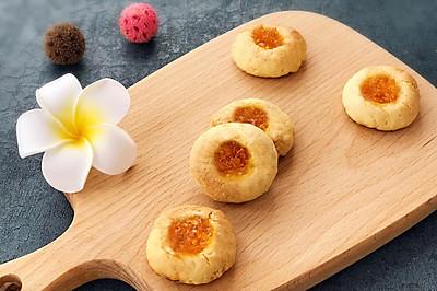 饼干吃出水果味-柚子果酱饼干
