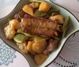 排骨炖芸豆土豆的做法