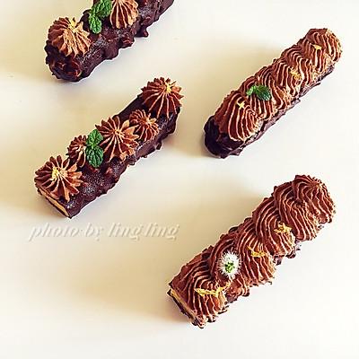 法式巧克力热情果慕斯