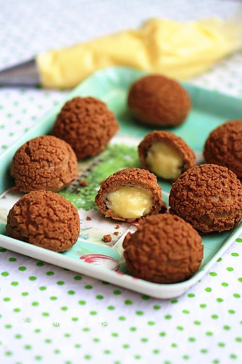 香酥脆的巧克力泡芙的做法