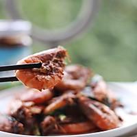 香菇酱烧基围虾的做法图解12