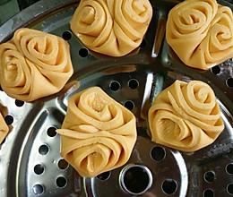 奶香南瓜花式馒头的做法