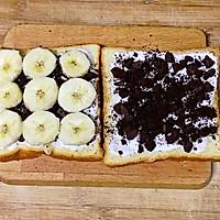 #花10分钟,做一道菜!#奥利奥酸奶香蕉吐司的做法图解4