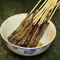 【孜然串烤虾】的做法图解4