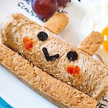 #花10分钟,做一道菜!# 小兔兔,花生酱吐司【图文视频】