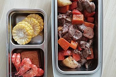 5分钟便当/电热饭盒-黑椒牛肉