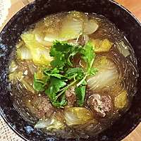 羊肉丸子汤的做法图解3