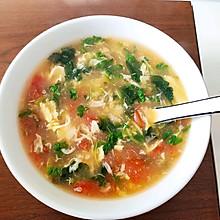 番茄菠菜鸡蛋汤