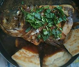 鱼头泡饼的详细做法的做法