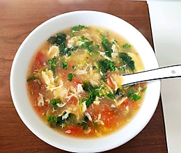 番茄菠菜鸡蛋汤的做法