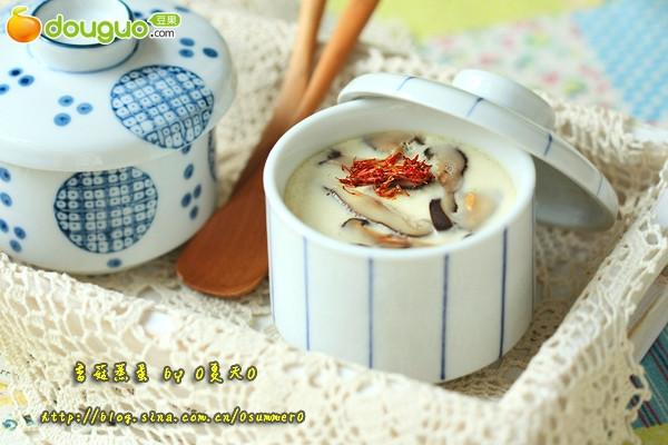 日式香菇蒸蛋的做法
