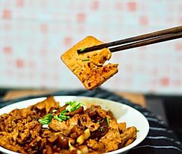 香煎嫩豆腐炒肉片的做法