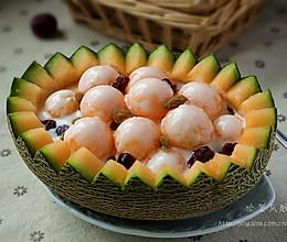 ~哈密瓜酸奶~美味果盘简单做 的做法