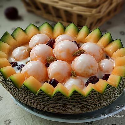 ~哈密瓜酸奶~美味果盘简单做