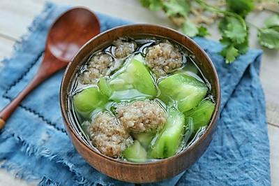 肉丸丝瓜汤#金龙鱼外婆乡小榨菜籽油 最强家乡菜#