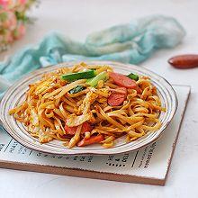 #快手又营养,我家的冬日必备菜品#快手炒面条