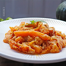 #硬核菜谱制作人#蛋黄焗南瓜