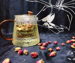 能瘦出小蛮腰的-玫瑰花荷叶茶的做法