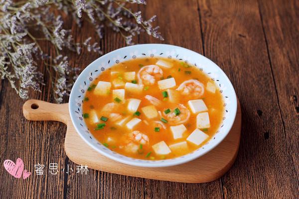 鲜香虾球豆腐羹的做法