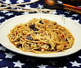 豆豉炒金针菇的做法