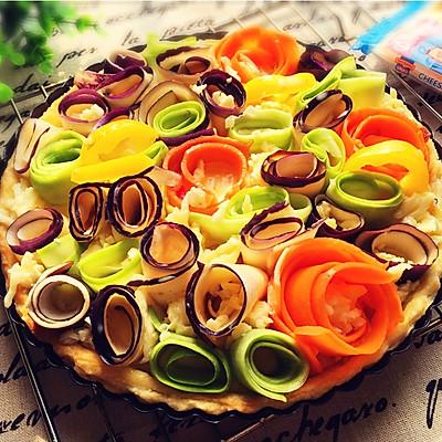 花花蔬菜法式蛋奶派