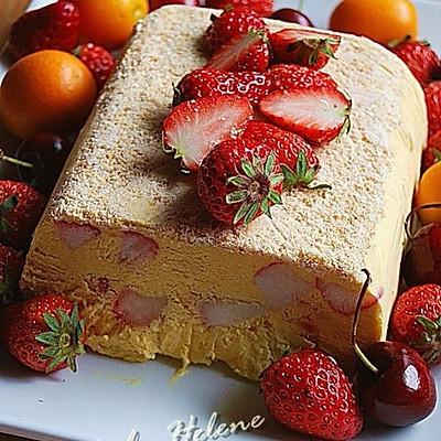 芒果草莓冰糕