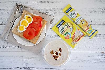 雀巢学生早餐:牛奶燕麦核桃粥